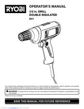 ryobi d41 operator s manual pdf download rh manualslib com Ryobi Router Table Manual Ryobi Band Saw Manual