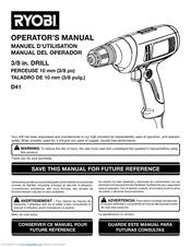 ryobi d41 manuals rh manualslib com Ryobi Batteries Ryobi Band Saw Manual