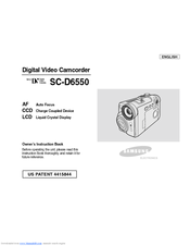 Samsung SCD6550 - DuoCam MiniDV Camcorder Owner's Instruction Book