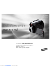 Samsung SC DX205 - Camcorder - 680 KP User Manual