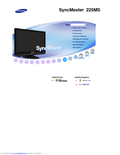 Samsung SyncMaster 225MS Owner's Manual