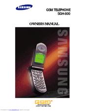 samsung sgh 800 manuals rh manualslib com