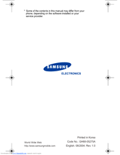 Samsung 08/2004 User Manual