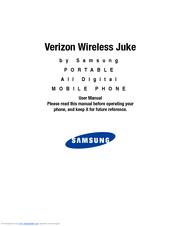 samsung juke manuals rh manualslib com Samsung Verizon Wireless Samsung Slider Cell