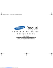 samsung rogue sch u960 manuals rh manualslib com Samsung TV Schematics Samsung Owner's Manual