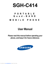 samsung sgh c414m manuals rh manualslib com New Samsung Cell Phone Samsung C414 Review