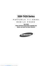 samsung sgh sgh t429 manuals rh manualslib com SGH- T249 Samsung Blast