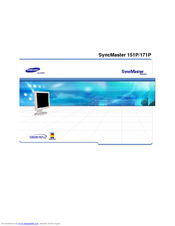 Samsung SyncMaster 151P User Manual