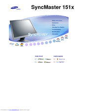 Samsung SyncMaster 151X User Manual