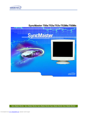 Samsung SyncMaster 750Ms Owner's Manual