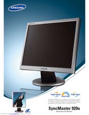 samsung 920n syncmaster 19 lcd monitor manuals rh manualslib com Samsung TV Monitor samsung 740n lcd monitor service manual