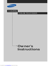 Samsung CL21K30MQ, CL21K30M16 Owner's Instructions Manual
