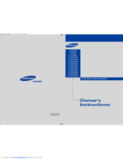 Samsung CL21S8 Owner's Instructions Manual