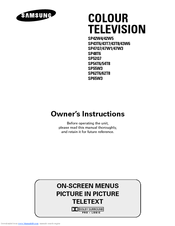 Samsung SP42W5 Owner's Instructions Manual