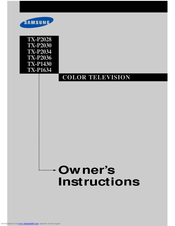 Samsung TX-P2034 Owner's Instructions Manual
