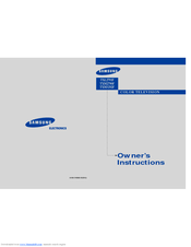 Samsung TXL 2791F Owner's Instructions Manual