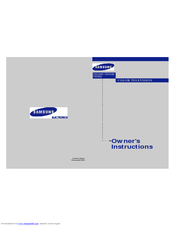 Samsung TX-P2022 Owner's Instructions Manual