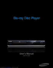 Samsung BD-P1400 User Manual