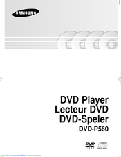 Samsung DVD-P560 User Manual