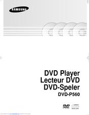 Samsung DVD-P560 User Manual