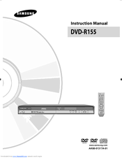 samsung dvd r155 instruction manual pdf download rh manualslib com R157 Samsung DVD Recorder Remote Samsung DVD R155