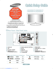 samsung ln52a750 manuals rh manualslib com Samsung TV Samsung LN52A750 Problems