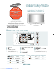 samsung ln52a650 manuals rh manualslib com Samsung LCD TV SRS Samsung Mobile Phones Manual