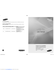 Samsung LN46B750U1F User Manual