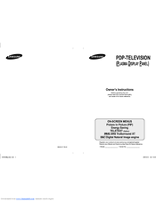 Samsung PS42C9HD Owner's Instructions Manual