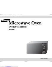 Samsung ME6124W Owner's Manual