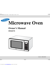 Samsung MW888STB Owner's Manual
