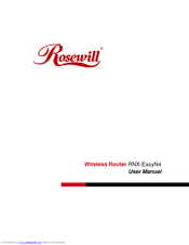 Rosewill rnx-n4ps ieee 802. 11b/g/n wireless-n 2. 0 router (2t3r) up.