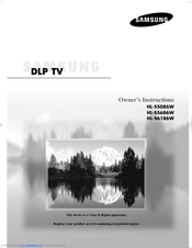 samsung hl s5086w owner s instructions manual pdf download rh manualslib com