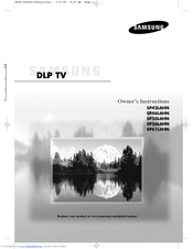 Samsung SP61L6HN Owner's Instructions Manual