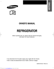 Samsung Refrigerator Owner's Manual
