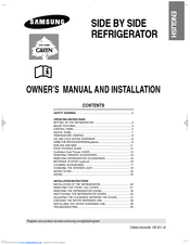 Samsung RS23FESW Owner's Manual And Installation