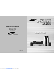 Samsung HT-AS600 Instruction Manual
