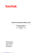SANDISK COMPACTFLASH EXTREME III PRODUCT MANUAL Pdf Download