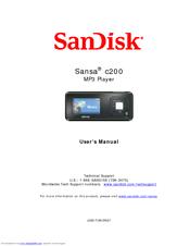 sandisk sansa c200 manuals rh manualslib com Quick Reference Guide Online User Guide