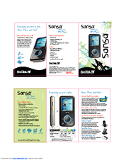 sandisk e280 sansa 8 gb digital player manuals rh manualslib com SanDisk Sansa Charger Sansa C240 Manual