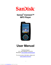 sandisk sansa sansa connect 4gb manuals rh manualslib com Lasonic MP3 Player Manual Digital MP3 Player Manual