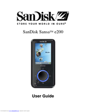 sandisk e280 sansa 8 gb digital player manuals rh manualslib com SanDisk Sansa Manual SanDisk Sansa Clip Zip Accessories