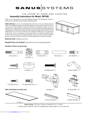 sanus systems wfv66 manuals rh manualslib com Mounting System for Televisions Wall Mount Systems