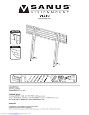 sanus systems new visionmount vll10 manuals rh manualslib com Sanus Cfr2115 Swivel Mount System