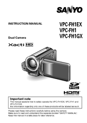 sanyo xacti vpc fh1gx manuals rh manualslib com