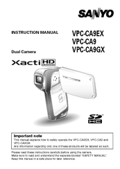 sanyo xacti vpc ca9 manuals rh manualslib com