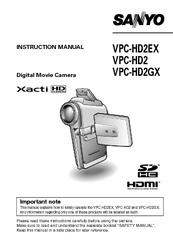 sanyo vpchd2ex xacti 7 1mp mpeg4 high definition camcorder manuals rh manualslib com SAP User Guide Kindle User Guide