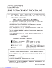Sanyo LNS-W32 - Wide-angle Lens - 22.3 mm Replacement Procedure