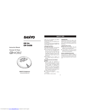Sanyo CDP-244CRB Instruction Manual