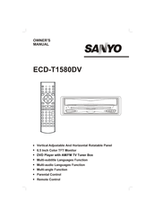 Sanyo ECD-T1580DV Owner's Manual